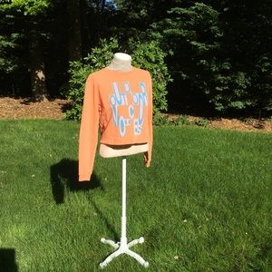 OUTDOOR VOICES orange fun logo sweatshirt